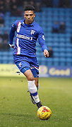 Gillingham defender Bradley Garmston during the Sky Bet League 1 match between Gillingham and Barnsley at the MEMS Priestfield Stadium, Gillingham, England on 13 February 2016. Photo by Andy Walter.