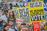 The March sets off down Piccadilly - It is estimated that over a million people joined the Put it to the People March from Park Lane to Parliament. Organised by the Peoples-Vote.UK to demand that, whatever deal is finally agreed, that it is put to the people to finally decide upon.