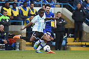 Shrewsbury Town midfielder Abu Ogogo during the Sky Bet League 1 match between Gillingham and Shrewsbury Town at the MEMS Priestfield Stadium, Gillingham, England on 23 April 2016. Photo by Martin Cole.