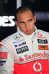 SAKHIR, BAHRAIN - Friday, April 24, 2009: Lewis Hamilton (GBR, Vodafone McLaren Mercedes) during the Bahrain Grand Prix at the Bahrain International Circuit. (Pic by Michael Kunkel/Hoch Zwei/Propaganda)