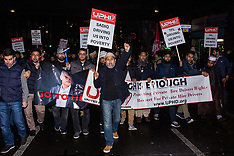 2019-02-04 Minicab drivers block London Bridge