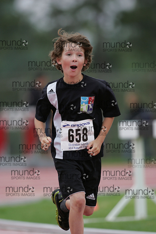 (Ottawa, Ontario}---26 June 2010)  Liam Lascelles in the 4x100m at the 2010 All-Elementary Schools Ottawa and Region Championship and Ottawa Lions High Performance Invitational. Photograph copyright Sean Burges / Mundo Sport Images, 2010. info@mundosportimages.com