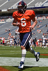 Virginia quarterback Marc Verica (6) warms up before the spring game.  The Virginia Cavaliers football team played the annual spring football scrimmage at Scott Stadium on the Grounds of the University of Virginia in Charlottesville, VA on April 18, 2009.  (Special to the Daily Progress / Jason O. Watson)