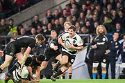 Twickenham, Surrey. England.  Ardie SAVEA, running  through, during the Killik Cup, Barbarians vs New Zealand. Twickenham. UK<br /> <br /> Saturday  04.11.17<br /> <br /> [Mandatory Credit Peter SPURRIER/Intersport Images]    during the Killik Cup, Barbarians vs New Zealand. Twickenham. UK<br /> <br /> Saturday  04.11.17<br /> <br /> [Mandatory Credit Peter SPURRIER/Intersport Images]