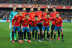 March 23, 2019 - Valencia, Valencia, Spain - Alignament of Spain in action during European Qualifiers championship, , football match between Spain and Norway, March 23th, in Mestalla Stadium in Valencia, Spain. (Credit Image: © AFP7 via ZUMA Wire)