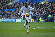 Leandro Bacuna of Aston Villa during the EFL Sky Bet Championship match between Cardiff City and Aston Villa at the Cardiff City Stadium, Cardiff, Wales on 2 January 2017. Photo by Andrew Lewis.