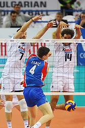 LASKO E FEI MURANO JANIC.ITALIA - SERBIA.PALLAVOLO TORNEO QUALIFICAZIONE OLIMPICA VOLLEY 2012.SOFIA (BULGARIA) 12-05-2012.FOTO GALBIATI - RUBIN