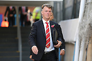 Manchester United Manager Louis van Gaal arriving for the Barclays Premier League match between Crystal Palace and Manchester United at Selhurst Park, London, England on 31 October 2015. Photo by Ellie Hoad.