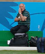 FA Chairman Greg Dyke sits with some packed bags and rubs his eye during the England training session the day before their final Group D match against Costa Rica at Mineirão, Belo Horizonte, Brazil. <br /> Picture by Andrew Tobin/Focus Images Ltd +44 7710 761829<br /> 23/06/2014