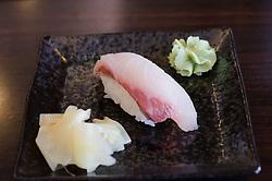 Nigiri sushi at Ichiro's in Steveston, BC.