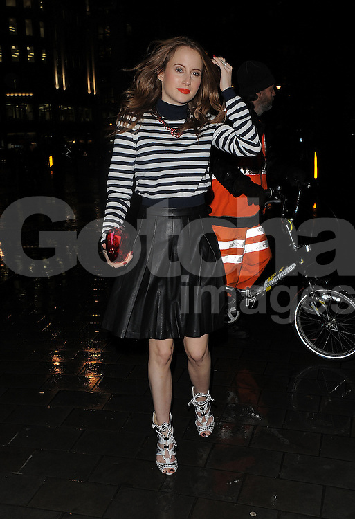 Rosie Fortescue attends the Gyunel AW 14 LFW Show at ME Hotel in London, UK. 14/02/2014<br />BYLINE MUST READ : GOTCHAIMAGES.COM<br /><br />Copyright by &copy; Gotcha Images Ltd. All rights reserved.<br />Usage of this image is conditional upon the acceptance <br />of Gotcha Images Ltd, terms and conditions available at<br />www.gotchaimages.com
