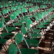 June 4, 2014 - New York, NY : Celebrate Brooklyn! held it's opening night gala & concert in Prospect Park on Wednesday night. Pictured here, empty chairs after the show.<br /> CREDIT: Karsten Moran for The New York Times