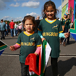 BRIGHTON, ENGLAND - SEPTEMBER 19: GV of fans during the Rugby World Cup 2015 Pool B match between South Africa and Japan at Brighton Community Centre on September 19, 2015 in Brighton, England. (Photo by Steve Haag/Gallo Images)