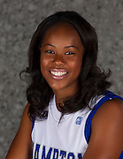 2012-2013 Hampton Women's Basketball Team head shots  at Hampton Convocation Center in Hampton, Virginia.  September 29, 2012  (Photo by Mark W. Sutton)