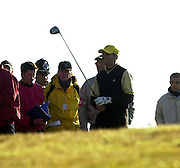 Photo Peter Spurrier.19/10/2002 Sat.CISCO World Matchplay Championships - Wentworth.Sergio Garcia in the rough 1st fairway..[Mandatory Credit Peter Spurrier/ Intersport Images]