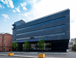 Exterior of modern Alliance Trust PLC  building at 8 West Marketgait, Dundee, Scotland, UK