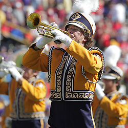 25 October 2008: A member of the LSU Tigers band performs during the Georgia Bulldogs 52-38 victory over the LSU Tigers at Tiger Stadium in Baton Rouge, LA.
