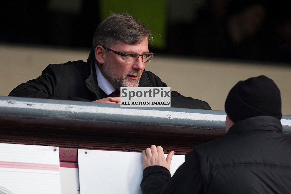 Hearts Director of Football Craig Levein takes his seat for the Ladbrokes Scottish Premiership match between Heart of Midlothian FC and Dundee FC at Tynecastle Stadium on November 21, 2015 in Edinburgh, Scotland. Photo by Jonathan Faulds/SportPix