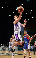 November 19, 2017 - Reno, Nevada, U.S - Reno Bighorns Guard DAVID STOCKTON (11) shoots a layup during the NBA G-League Basketball game between the Reno Bighorns and the Long Island Nets at the Reno Events Center in Reno, Nevada. (Credit Image: © Jeff Mulvihill via ZUMA Wire)
