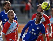 FODBOLD: Anders Holst (FC Helsingør) og David Boysen (Lyngby BK) under kampen i ALKA Superligaen mellem Lyngby Boldklub og FC Helsingør den 10. september 2017 på Lyngby Stadion. Foto: Claus Birch