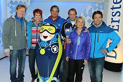 10.12.2013, Olympiahalle, Muenchen, GER, ARD und ZDF Olympia in Sochi, im Bild vl Dieter Thoma (TV-Experte ARD/BR), Kati Wilhelm (TV-Experte ARD/BR), Gerd Schoenfelder (TV-Experte ARD/BR), Markus Wasmeier (TV-Experte ARD/BR), Verena Bentele (TV-Experte ARD/BR), Peter Schlickenrieder (TV-Experte ARD/BR) bei der ARD/ZDF Olympia-PressekonferenzARD, ZDF werden, enger Zusammenarbeit von den XXII Olympischen Winterspielen vom 7 2 -23 2  2014, Sotschi mit einem vielfaeltigen Live-Angebot berichten. EXPA Pictures © 2013, PhotoCredit: EXPA/ Eibner-Pressefoto/ Stuetzle<br /> <br /> *****ATTENTION - OUT of GER*****