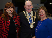 Repro FREE:   Dorothy Creaven, Element Wave, Mayor of galway Cllr Noel Larkin and Breda FoxLEO GAlwayat the Portershed for the  IBYE2016 awards awarded by the Local Enterprise Office.<br /> Photo:Andrew Downes, xposure