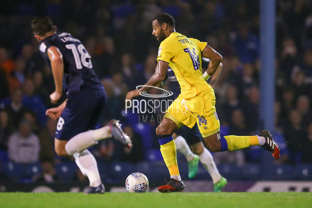 AFC Wimbledon midfielder Liam Trotter (14) in action  during the EFL Sky Bet League 1 match between Southend United and AFC Wimbledon at Roots Hall, Southend, England on 26 September 2017. Photo by Simon Davies.