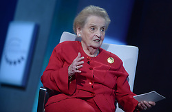 Madeleine Albright at the annual meeting of the Clinton Global Initiative (CGI) in New York City, NY, USA, on Monday, September 19, 2016. The annual CGI meetings bring together heads of state, leading CEOs, philanthropists, and members of the media to facilitate discussion and forward-thinking initiatives that challenge the way we impact the future. Photo by Dennis van Tine/ABACAPRESS.COM