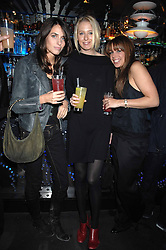 Left to right, MARINA HANBURY, the HON.SOPHIA HESKETH and WILLA KESWICK at the launch party of the Cheap Date Guide to Style by Kira Jolliffe and Bay Garnett held at Kabaret's Prophecy,  16-18 Beak Street, London on 15th February 2007.<br />