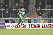 even a rain dance by Lyle Taylor of AFC Wimbledon doesn't produce a goal in a wet first half during the Sky Bet League 2 match between Barnet and AFC Wimbledon at Underhill Stadium, London, England on 20 February 2016. Photo by Stuart Butcher.