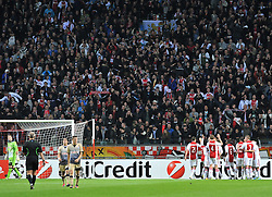 02.11.2011, Amsterdam Arena. Amsterdam, NED, UEFA Champions League, Vorrunde, Ajax Amsterdam (NED) vs Dinamo Zagreb (CRO), im Bild supporters// during Ajax Amsterdam (NED) vs Dinamo Zagreb (CRO), at Amsterdam Arena, Amsterdam, NED, 2011-11-02. EXPA Pictures © 2011, PhotoCredit: EXPA/ nph/ PIXSELL/ Marko Lukunic       ****** out of GER / CRO  / BEL ******