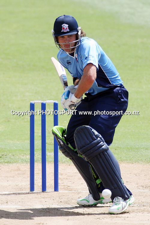 Lou. Men's one day cricket, Auckland Aces v Wellington Firebirds, Colin Maiden Park, Auckland. Wednesday 12 January 2011. Photo: Ella Brockelsby/photosport.co.nz
