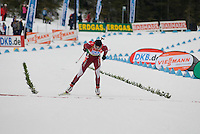 Kristaps Libietis (LAT) competes in the World Cup Biathlon men's Sprint Competition on March 13, 2009