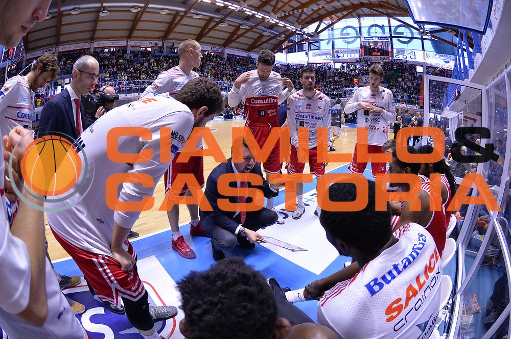 Spiro Leka<br /> Enel Brindisi - Consultinvest Pesaro<br /> BASKET Serie A 2016 <br /> Brindisi 09/04/2017<br /> FOTO CIAMILLO / M.Longo