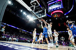 Georgios Papagiannis of Greece vs Jonas Valanciunas of Lithuania during basketball match between National Teams of Lithuania and Greece at Day 10 in Round of 16 of the FIBA EuroBasket 2017 at Sinan Erdem Dome in Istanbul, Turkey on September 9, 2017. Photo by Vid Ponikvar / Sportida
