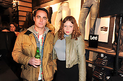 MAX BERGIUS and MARTHA BOWMAN at the Lee store re-launch party held at 13-14 Carnaby Street, London on 31st March 2010.