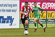 Kane Wilson (22) of Exeter City on the attack during the EFL Sky Bet League 2 match between Exeter City and Swindon Town at St James' Park, Exeter, England on 24 March 2018. Picture by Graham Hunt.