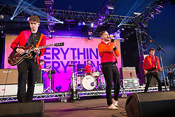 © Licensed to London News Pictures . 06/06/2015. Manchester , UK . Everything Everything perform on the Big Top stage at The Parklife 2015 music festival in Heaton Park , Manchester . Photo credit : Joel Goodman/LNP