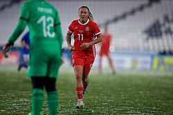 CESENA, ITALY - Tuesday, January 22, 2019: Wales' Natasha Harding during the International Friendly between Italy and Wales at the Stadio Dino Manuzzi. (Pic by David Rawcliffe/Propaganda)