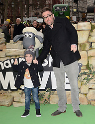 Danny Wallace attends Shaun The Sheep Uk Premiere at Vue West End, Leicester Square, London on Sunday 25 January 2015