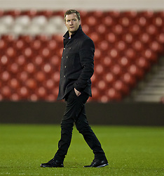 NOTTINGHAM, ENGLAND - Thursday, February 4, 2016: Liverpool's Academy Director Alex Inglethorpe on the pitch ahead of the FA Youth Cup 5th Round match against Nottingham Forest at the City Ground. (Pic by David Rawcliffe/Propaganda)