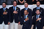 Tiger Woods during the Opening Ceremony of Ryder Cup 2018, at Golf National in Saint-Quentin-en-Yvelines, France, September 27, 2018 - Photo Philippe Millereau / KMSP / ProSportsImages / DPPI