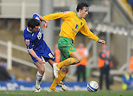 Birmingham - Saturday March 21st, 2009: Liam Ridgewell of Birmingham City and Alan Gow of Norwich City during the Coca Cola Championship match at St Andrews, Birmingham. (Pic by Alex Broadway/Focus Images)