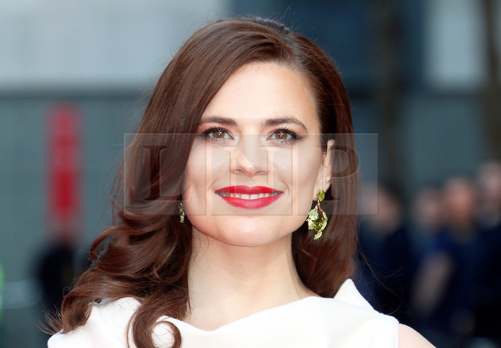 © Licensed to London News Pictures. 13/04/2014, UK. Hayley Atwell, The Laurence Olivier Awards, Royal Opera House, London UK, 13 April 2014. Photo credit : Richard Goldschmidt/Piqtured/LNP