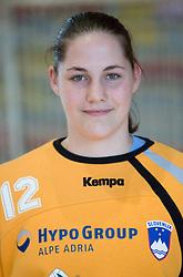 Portrait of Neja Soberl of Slovenian Handball Women National Team, on June 3, 2009, in Arena Kodeljevo, Ljubljana, Slovenia. (Photo by Vid Ponikvar / Sportida)