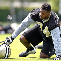 June 5, 2012; Metairie, LA, USA; New Orleans Saints defensive end Cameron Jordan (94) during a minicamp session at the team's practice facility. Mandatory Credit: Derick E. Hingle-US PRESSWIRE
