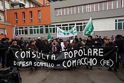MANIFESTAZIONE OSPEDALE DI COMACCHIO GENNAIO 2014