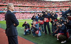 LONDON, ENGLAND - Tuesday, May 5, 2009: Arsenal's manager Arsene Wenger before the UEFA Champions League Semi-Final 2nd Leg match against Manchester United at the Emirates Stadium. (Photo by David Rawcliffe/Propaganda)