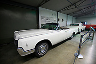 One of President Lyndon Johnson&rsquo;s white Lincoln convertibles that he used at the LBJ Ranch near Johnson City Texas.<br />