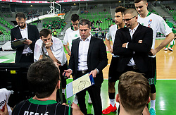 Aleksandar Saso Nikitovic, coach of Petrol Olimpija during basketball match between KK Petrol Olimpija and KK Igokea in Round #19 of ABA League 2018/19, on February 11, 2019 in Arena Stozice, Ljubljana, Slovenia. Photo by Vid Ponikvar / Sportida